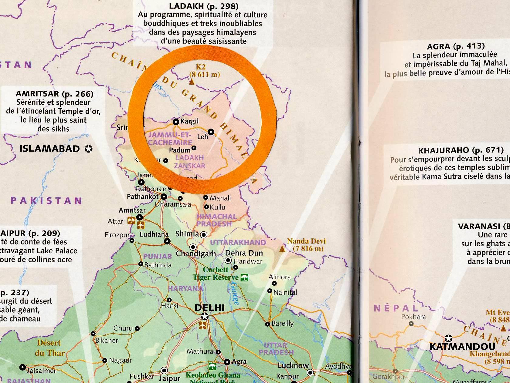 Séjour au Zanskar   Trek : sujet et cartes